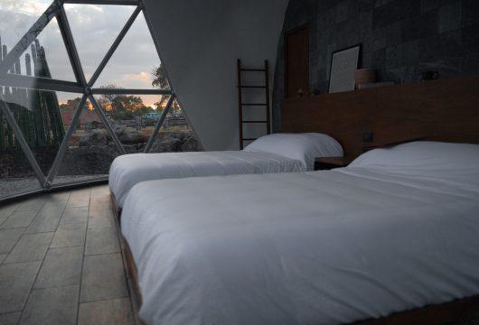 camas matrimoniales de domogeodésico para glamping